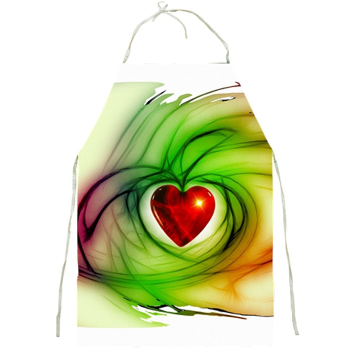 Heart Love Luck Abstract Full Print Aprons