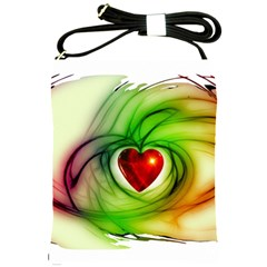 Heart Love Luck Abstract Shoulder Sling Bag