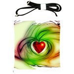 Heart Love Luck Abstract Shoulder Sling Bag Front