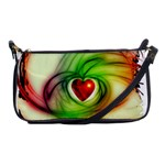 Heart Love Luck Abstract Shoulder Clutch Bag Front