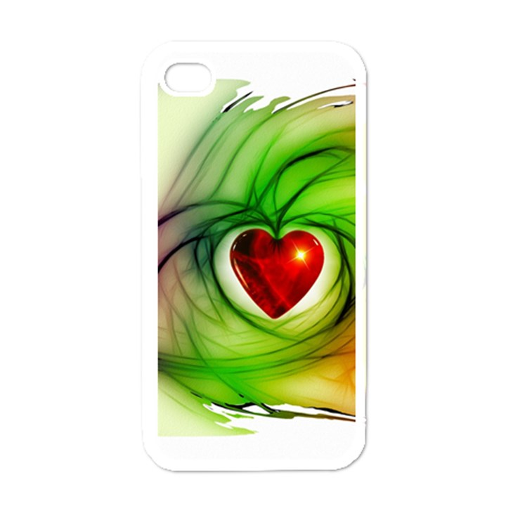Heart Love Luck Abstract Apple iPhone 4 Case (White)