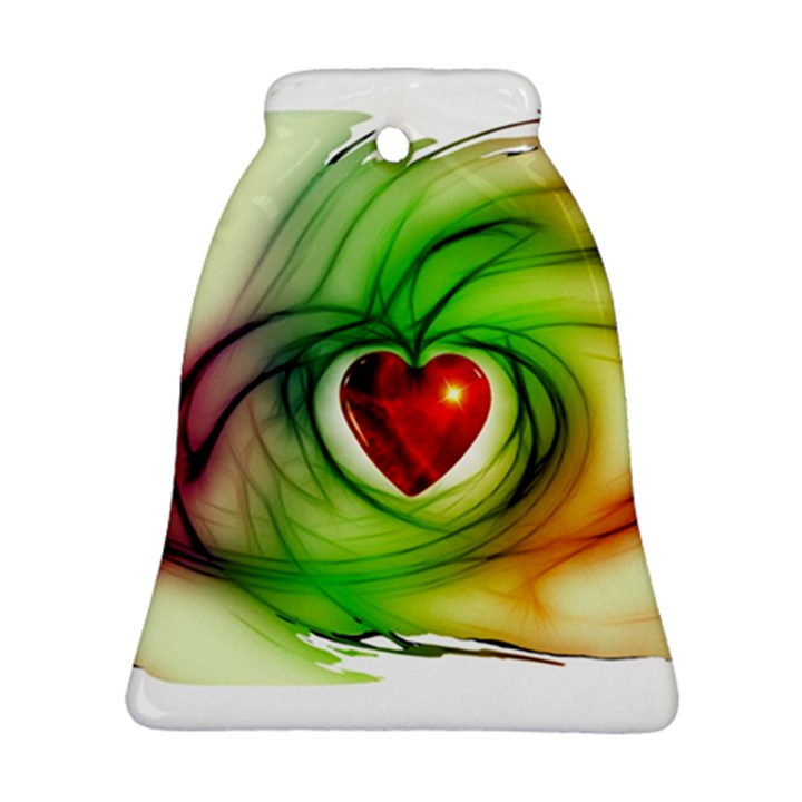 Heart Love Luck Abstract Bell Ornament (Two Sides)