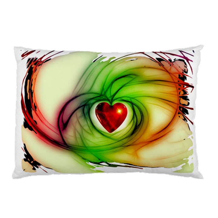 Heart Love Luck Abstract Pillow Case (Two Sides)