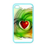 Heart Love Luck Abstract Apple iPhone 4 Case (Color) Front