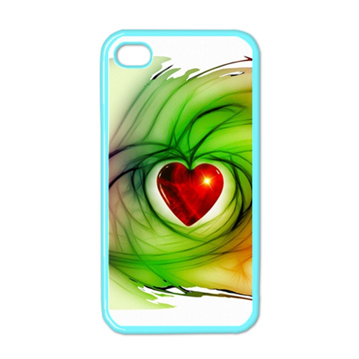 Heart Love Luck Abstract Apple iPhone 4 Case (Color)