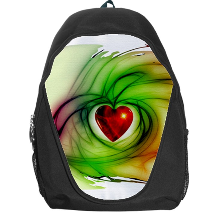 Heart Love Luck Abstract Backpack Bag