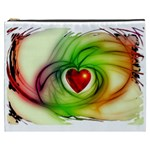 Heart Love Luck Abstract Cosmetic Bag (XXXL) Front
