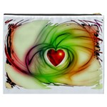 Heart Love Luck Abstract Cosmetic Bag (XXXL) Back