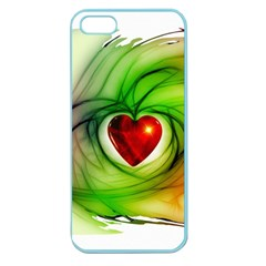 Heart Love Luck Abstract Apple Seamless Iphone 5 Case (color) by Pakrebo