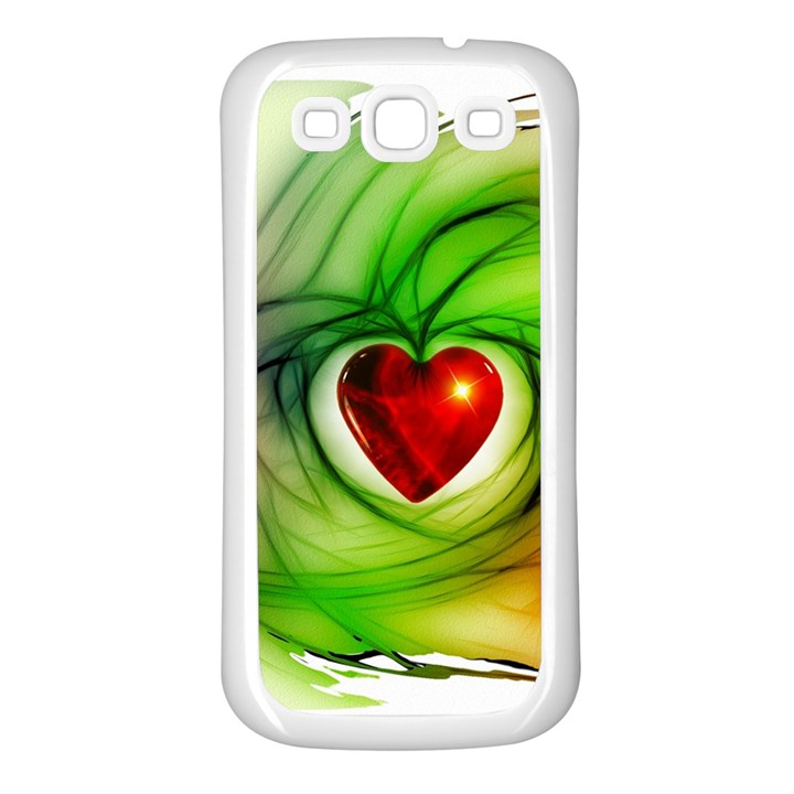 Heart Love Luck Abstract Samsung Galaxy S3 Back Case (White)