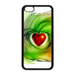 Heart Love Luck Abstract Apple iPhone 5C Seamless Case (Black) Front