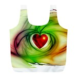 Heart Love Luck Abstract Full Print Recycle Bag (L) Front