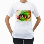 Heart Love Luck Abstract Women s T-Shirt (White)  Front