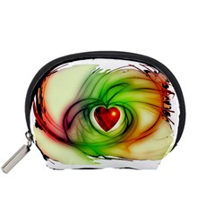Heart Love Luck Abstract Accessory Pouch (small)