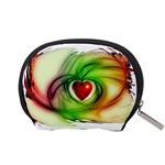 Heart Love Luck Abstract Accessory Pouch (Small) Back