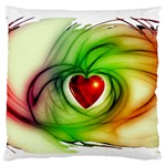 Heart Love Luck Abstract Standard Flano Cushion Case (Two Sides) Back