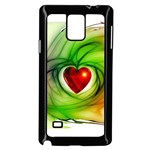 Heart Love Luck Abstract Samsung Galaxy Note 4 Case (Black) Front