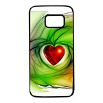 Heart Love Luck Abstract Samsung Galaxy S7 Black Seamless Case Front