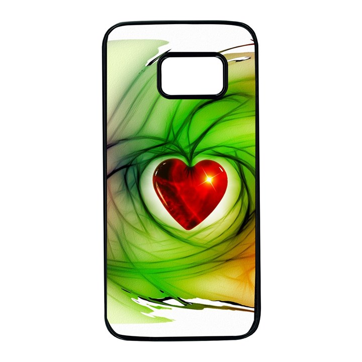Heart Love Luck Abstract Samsung Galaxy S7 Black Seamless Case