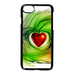 Heart Love Luck Abstract Apple iPhone 7 Seamless Case (Black) Front