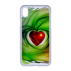 Heart Love Luck Abstract Apple Iphone Xr Seamless Case (white)