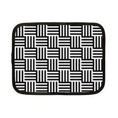Black And White Basket Weave Netbook Case (Small)