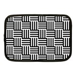 Black And White Basket Weave Netbook Case (Medium) Front