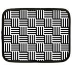 Black And White Basket Weave Netbook Case (Large) Front