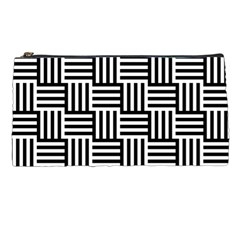 Black And White Basket Weave Pencil Cases
