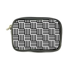 Black And White Basket Weave Coin Purse