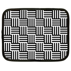 Black And White Basket Weave Netbook Case (XL)