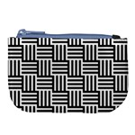 Black And White Basket Weave Large Coin Purse Front