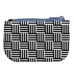 Black And White Basket Weave Large Coin Purse Back
