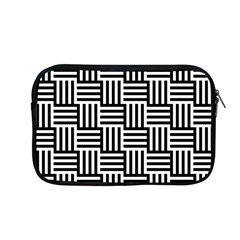 Black And White Basket Weave Apple MacBook Pro 13  Zipper Case