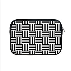 Black And White Basket Weave Apple MacBook Pro 15  Zipper Case