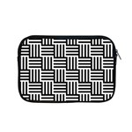 Black And White Basket Weave Apple MacBook Pro 15  Zipper Case Front