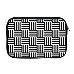 Black And White Basket Weave Apple Macbook Pro 17  Zipper Case