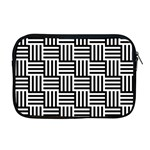 Black And White Basket Weave Apple MacBook Pro 17  Zipper Case Front