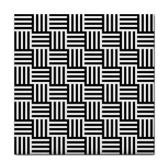 Black And White Basket Weave Tile Coasters