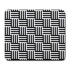 Black And White Basket Weave Large Mousepads