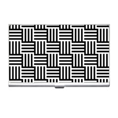 Black And White Basket Weave Business Card Holder