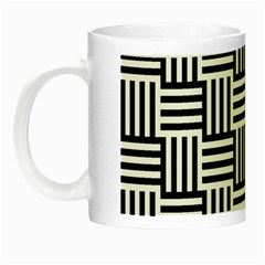 Black And White Basket Weave Night Luminous Mugs