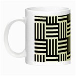 Black And White Basket Weave Night Luminous Mugs Left