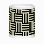 Black And White Basket Weave Night Luminous Mugs Center