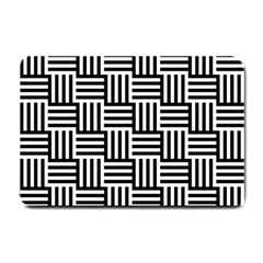 Black And White Basket Weave Small Doormat