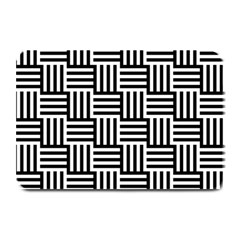 Black And White Basket Weave Plate Mats