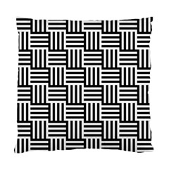 Black And White Basket Weave Standard Cushion Case (Two Sides)