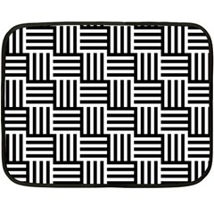 Black And White Basket Weave Double Sided Fleece Blanket (Mini)
