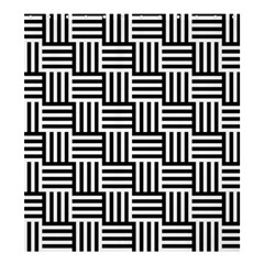 Black And White Basket Weave Shower Curtain 66  x 72  (Large)