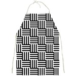 Black And White Basket Weave Full Print Aprons Front